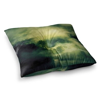 888 Design Dark Mystical Landscape Square Floor Pillow Size: 26 x 26