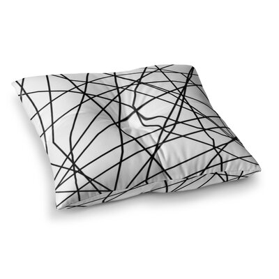 Trebam Paucina Square Floor Pillow Size: 26 x 26, Color: White