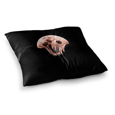 BarmalisiRTB Monster Moon Digital Square Floor Pillow Size: 26 x 26