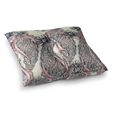 Sonal Nathwani Inky Paisley Bloom Square Floor Pillow Size: 26 x 26