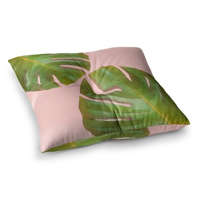 Oriana Cordero Tropico V2 Square Floor Pillow Color: Pink, Size: 23 x 23