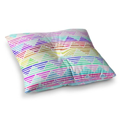 Sreetama Ray Stripes Cushion Chevron Square Floor Pillow Size: 26 x 26