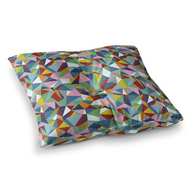 Project M Abstraction Square Floor Pillow Size: 26 x 26, Color: Red/Green