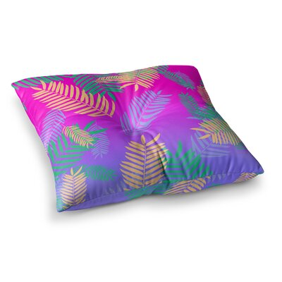 Vasare Nar Tropical Cocktail Magenta Art Deco Pop Art Square Floor Pillow Size: 23 x 23