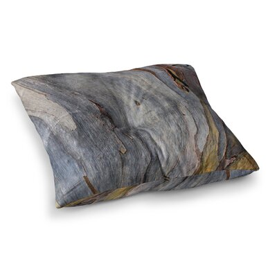 Susan Sanders Milky Wood Square Floor Pillow Size: 23