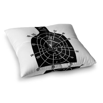 BarmalisiRTB Arch Arrow Square Floor Pillow Size: 23 x 23