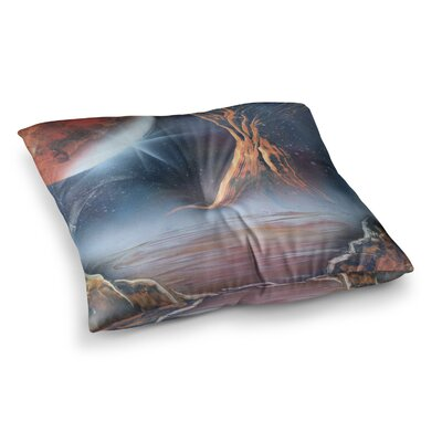 Infinite Spray Art Embark Square Floor Pillow Size: 26 x 26