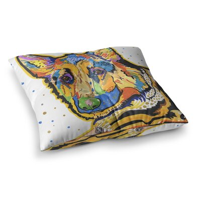 Rebecca Fischer Floyd German Shepard Square Floor Pillow Size: 23 x 23