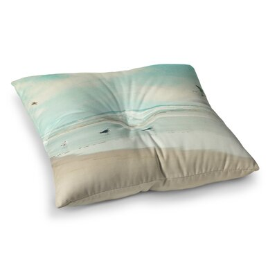 Sylvia Cook Away We Go Beach Seagull Square Floor Pillow Size: 26