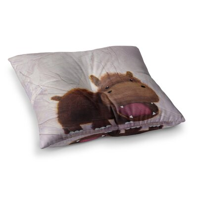 Rachel Kokko The Happy Hippo Square Floor Pillow Size: 26 x 26