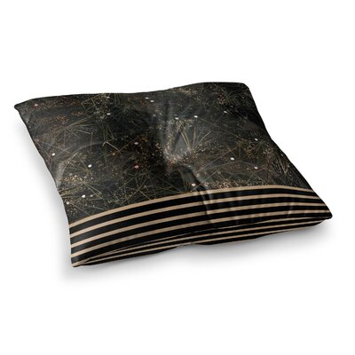 Marianna Tankelevich Space Geometry Digital Square Floor Pillow Size: 23 x 23