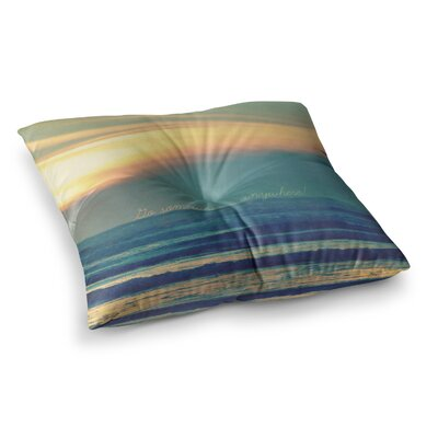 Robin Dickinson Go Somewhere Square Floor Pillow Size: 23 x 23