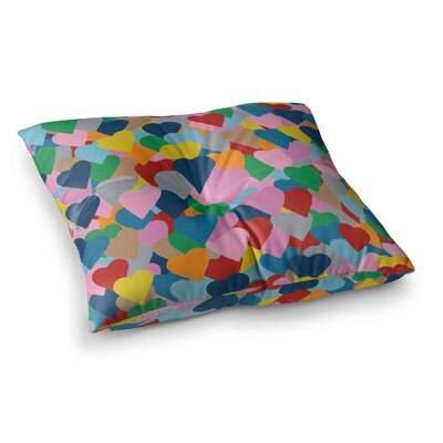 Project M More Hearts Square Floor Pillow Size: 26 x 26