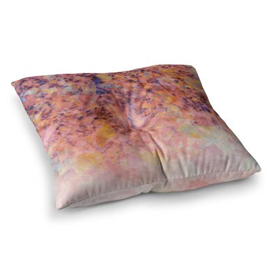 Nikki Strange Blushed Geometric Square Floor Pillow Size: 26 x 26