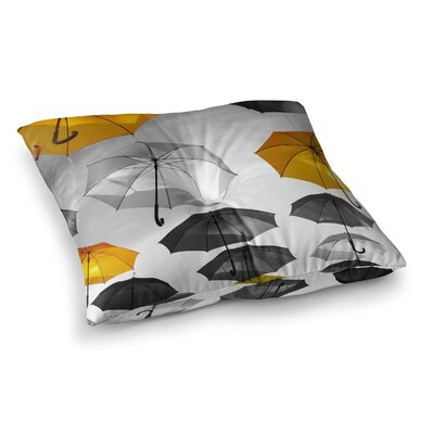 888 Design Umbrellas Square Floor Pillow Size: 26 x 26