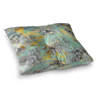 Zara Martina Mansen Garden Square Floor Pillow Size: 23 x 23, Color: Green