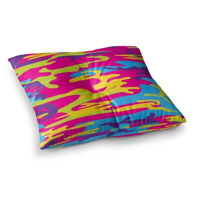 Roberlan Flamboyant Camoflage Digital Square Floor Pillow Size: 26 x 26