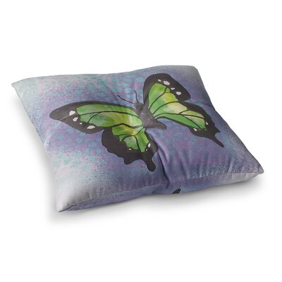 Padgett Mason Flutter Maroon Square Floor Pillow Size: 23 x 23, Color: Dark Violet