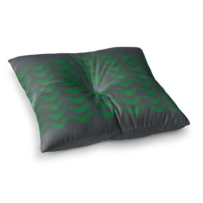 Trebam Cijan Square Floor Pillow Size: 26