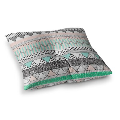 Vasare Nar Chevron Motif Square Floor Pillow Size: 26 x 26