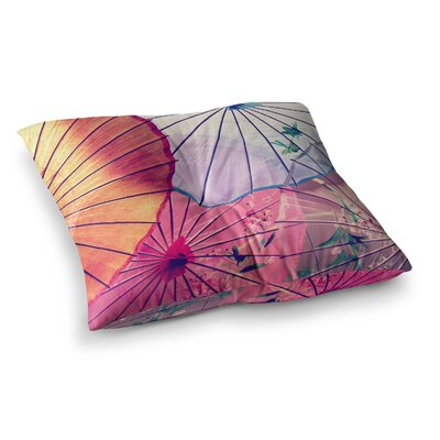 Sylvia Cook Umbrellas Multi Square Floor Pillow Size: 23 x 23