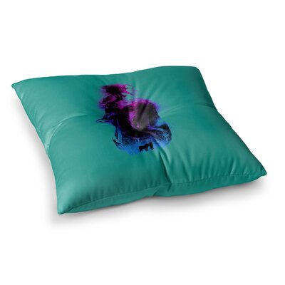 BarmalisiRTB Forest Queen People Square Floor Pillow Size: 26 x 26