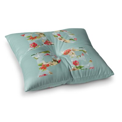 Suzanne Carter Hope Floral Square Floor Pillow Size: 26 x 26