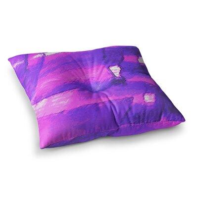 Oriana Cordero Suenos en Purpura Lavender Square Floor Pillow Size: 23 x 23