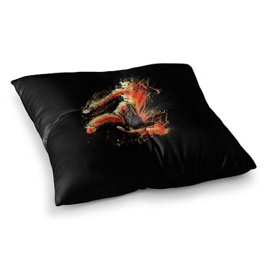 BarmalisiRTB Strong Fighter Square Floor Pillow Size: 23 x 23