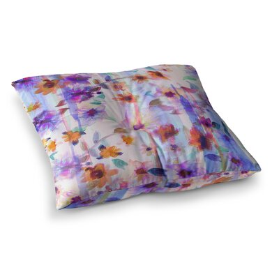 Nikki Strange Floral Ombre Pastel Square Floor Pillow Size: 26 x 26
