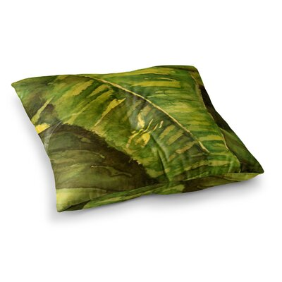 Rosie Brown Tropical Garden Leaf Square Floor Pillow Size: 23 x 23