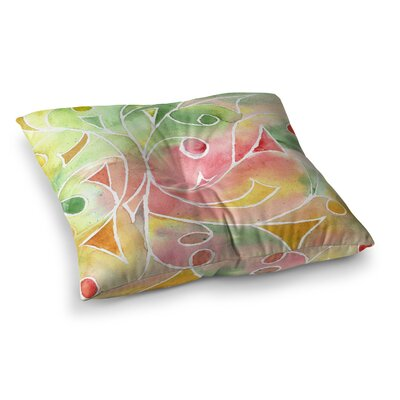 Rosie Brown Gift Wrap Square Floor Pillow Size: 23 x 23