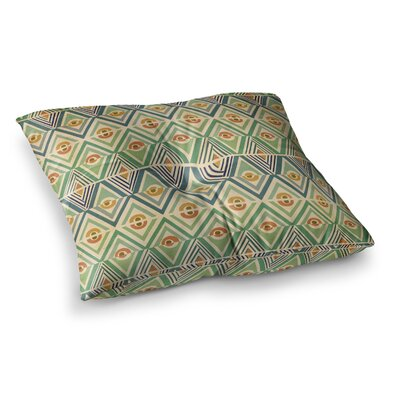 Pom Graphic Design Celebration Square Floor Pillow Size: 23 x 23, Color: Green