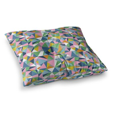 Project M Abstraction Square Floor Pillow Size: 26 x 26, Color: Pink/Green