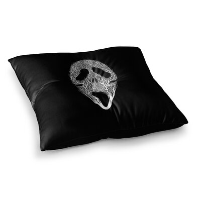 BarmalisiRTB The Scream Tree Square Floor Pillow Size: 26 x 26