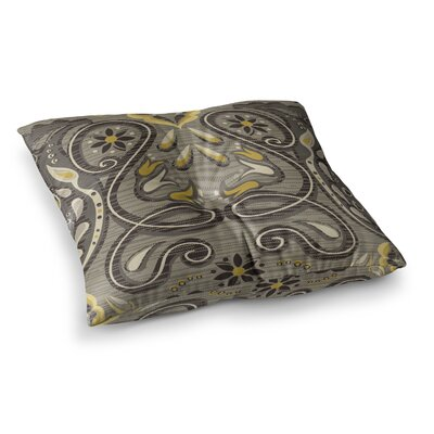 Suzie Tremel Vintage Damask Square Floor Pillow Size: 26 x 26