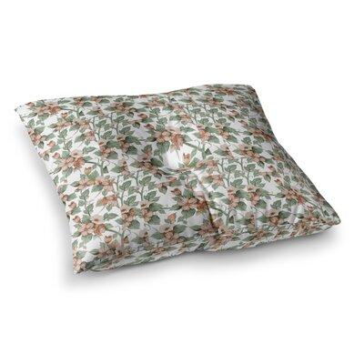 Suzanne Carter Vintage Flowers Floral Square Floor Pillow Size: 26 x 26