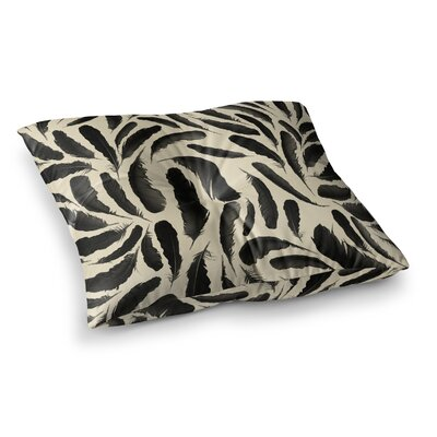 Skye Zambrana Feather Pattern Square Floor Pillow Size: 26 x 26