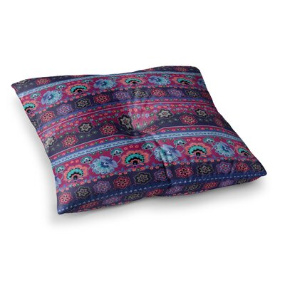 Victoria Krupp Folcloric Border Square Floor Pillow Size: 23 x 23