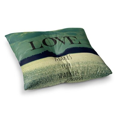 Robin Dickinson Love Makes You Sparkle Square Floor Pillow Size: 26 x 26