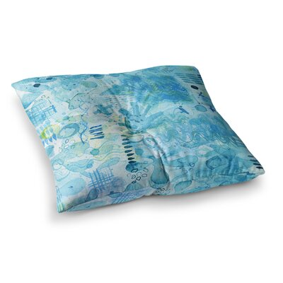 Nic Squirrell Floating Watercolor Square Floor Pillow Size: 26 x 26