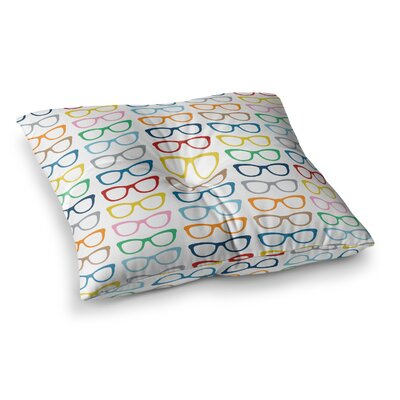 Project M Specs Square Floor Pillow Size: 23 x 23, Color: White/Rainbow