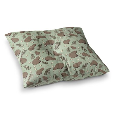 Stephanie Vaeth Kiwi Bird Illustration Square Floor Pillow Size: 26 x 26