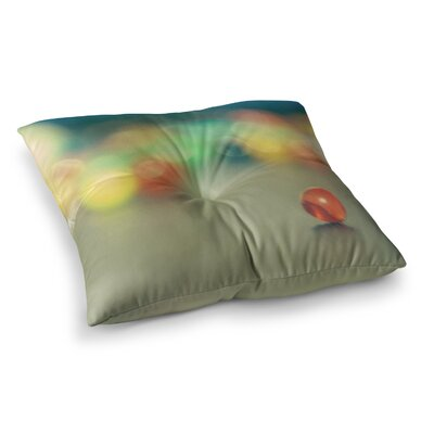 Sylvia Coomes Marble Bokeh Abstract Square Floor Pillow Size: 23 x 23