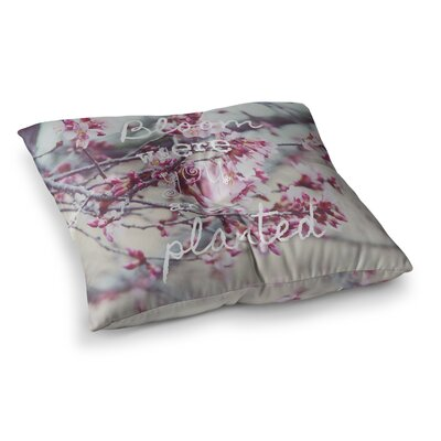 Suzanne Carter Bloom Square Floor Pillow Size: 23 x 23