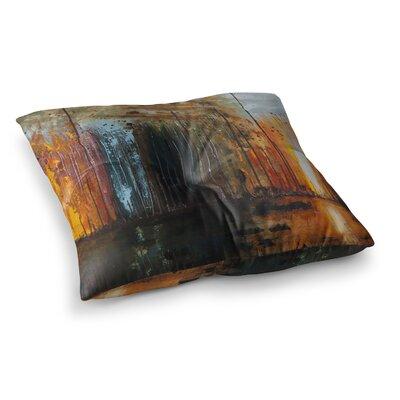 Steve Dix Theres Fire Painting Square Floor Pillow Size: 26 x 26