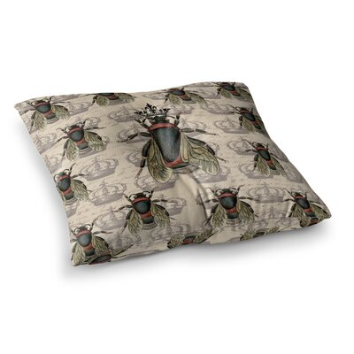 Suzanne Carter Queen Bee Square Floor Pillow Size: 23 x 23