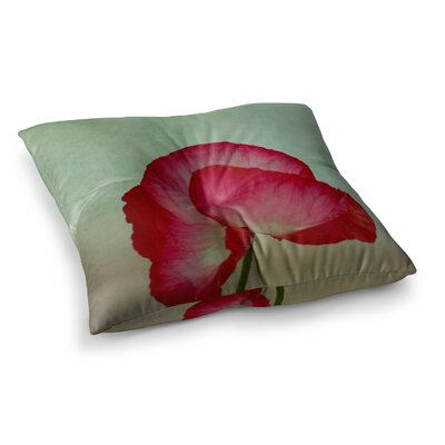 Robin Dickinson La Te Da Poppies Square Floor Pillow Size: 23 x 23