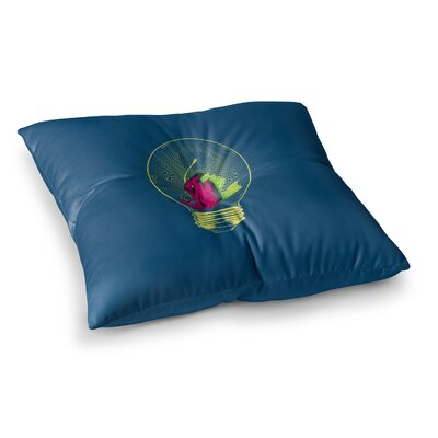 BarmalisiRTB Anglerfish Bulb Square Floor Pillow Size: 23 x 23