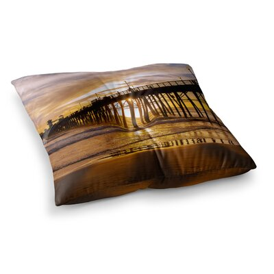 Juan Paolo The Golden Hour Square Floor Pillow Size: 23 x 23